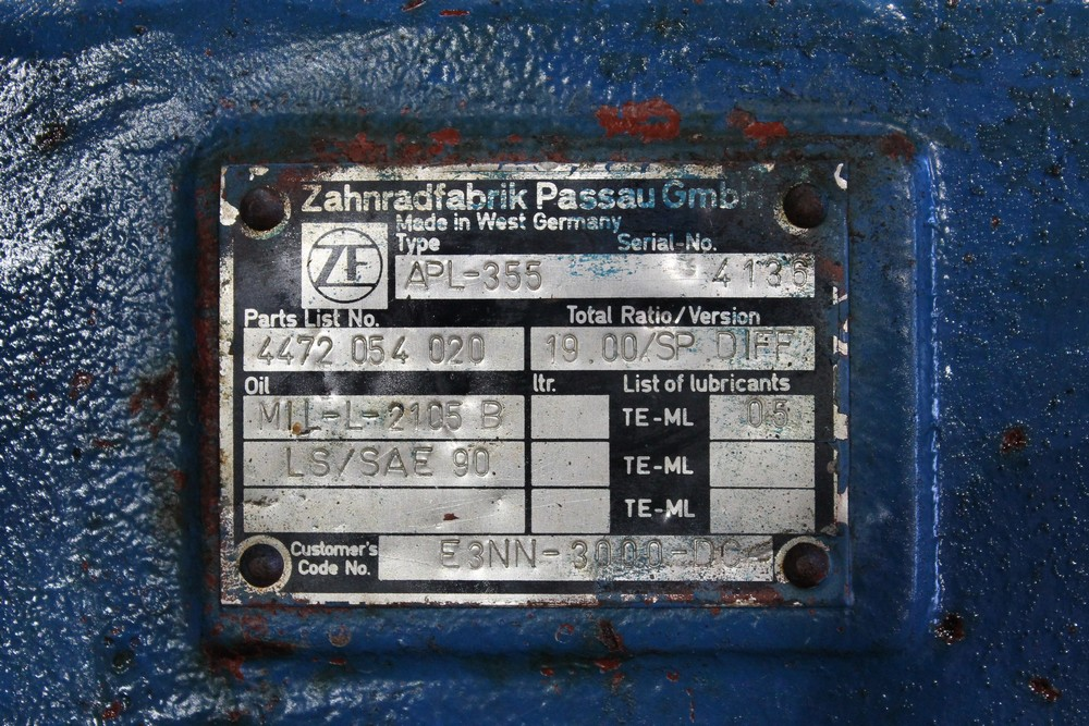 Front axle ZF APL355 - Ford - TW-series - TW15 - Purkupojat